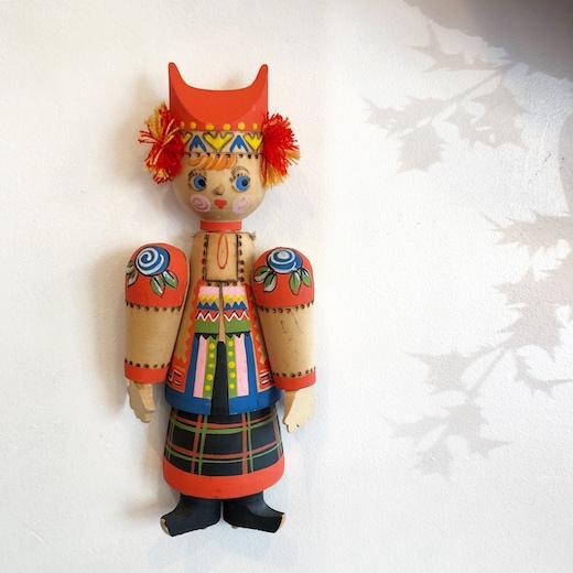 ロシアン雑貨、壁掛け人形、ウッドドール、木製人形、民族衣装、ヴィンテージ雑貨
