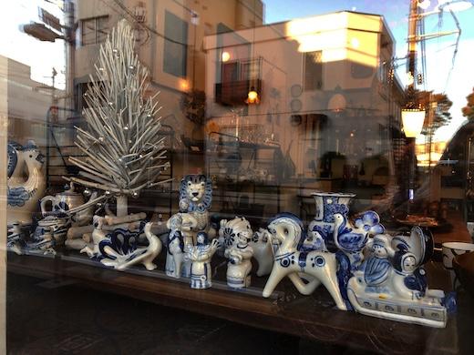 ロシア雑貨、ヴィンテージ、グジェリ焼き、フィギュリン、陶器人形、クリスマスギフト