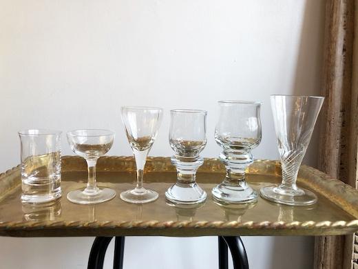 冷酒グラス、ヴィンテージガラス、吹きガラス、北欧ヴィンテージ、リキュールガラス、ホルムガード、ボダ