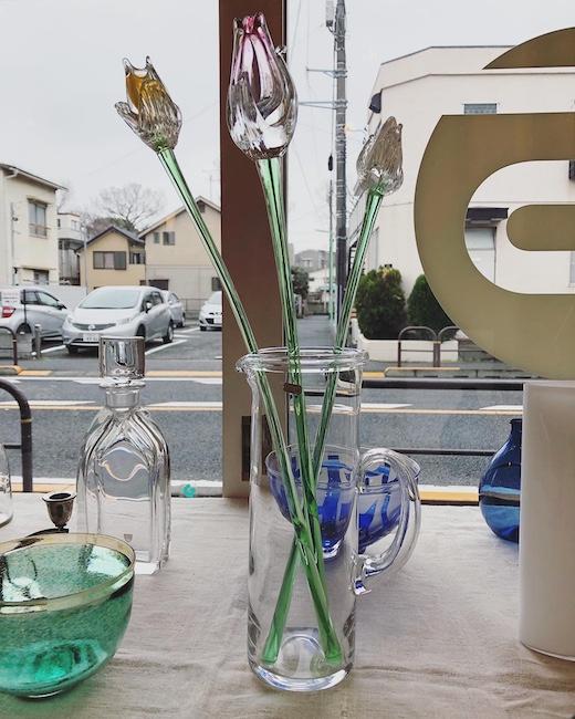 ヴィンテージガラス、北欧ガラス、ガラス器、花瓶、ムラノガラス、イッタラ、コスタボダ