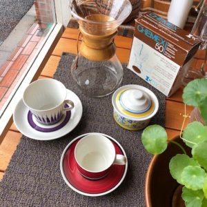 北欧ヴィンテージ食器、カップソーサー、コーヒーカップ、ロールストランド 、ウプサラエクビー、フィッギオ、モダンデザイン