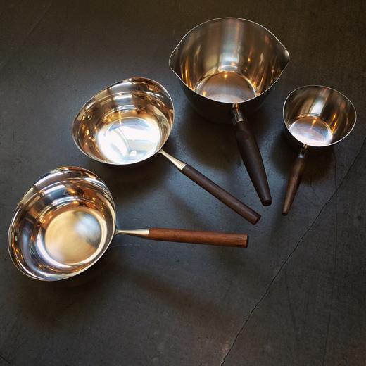 北欧ヴィンテージ、ソースパン、ミルクパン、キッチンウェア、モダンデザイン、北欧デザイン