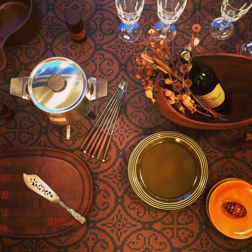 北欧ヴィンテージ、ヴィンテージ食器、チーズフォンデュ