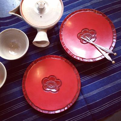 漆器、菓子皿