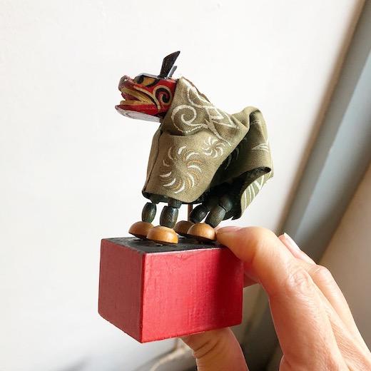 郷土玩具、獅子舞、飛騨、一刀彫り、ヴィンテージおもちゃ