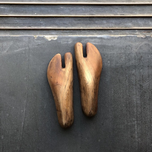 古道具、足袋型、木型、靴型、足袋、アンティーク