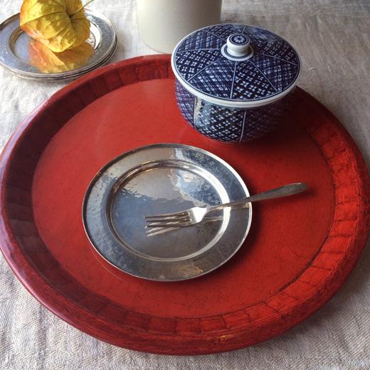 銀器、菓子皿、silver、塗盆、モダンクラフト、ヴィンテージ