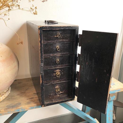 時代家具、行商箪笥、引き出し、明治時代、収納