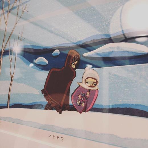 池田修三、暮れ雪、木版画、額装品、モダンインテリア、1987年