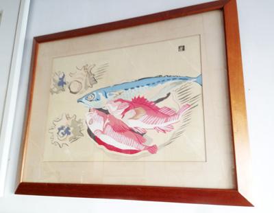 安井曾太郎、版画作品、魚