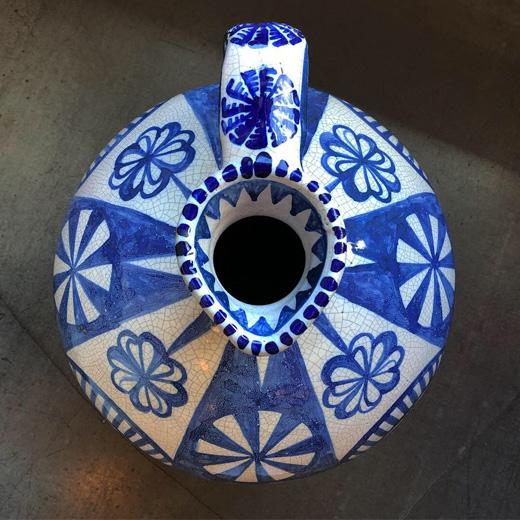 スペイン陶器、ジャグ、ピッチャー、フラワーベース、花瓶、やきもの、ヴィンテージ