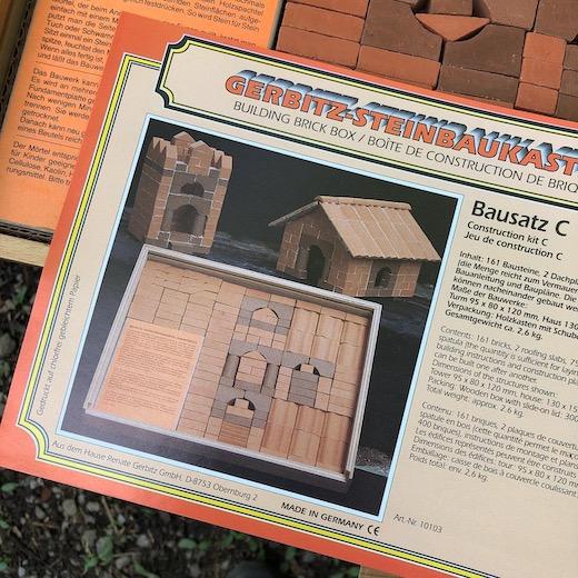 ドイツ玩具、レンガ積み木、レンガの家、知育玩具、シュピールグート