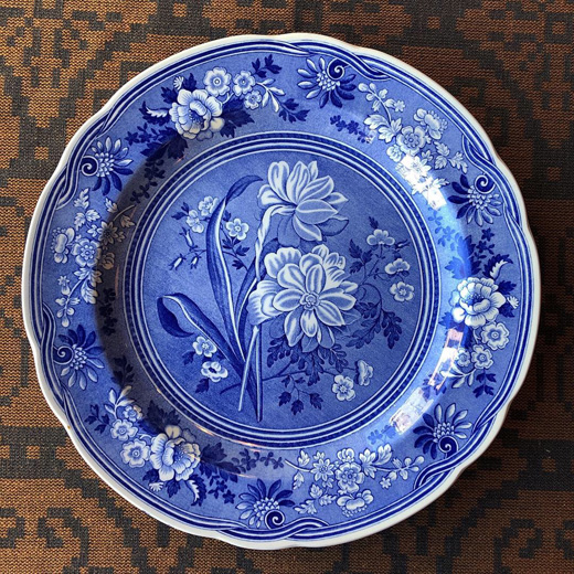 英国、スポード、絵皿、ボタニカル、blueroomcollection、プレート、spode
