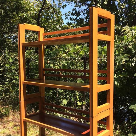 ヴィンテージ家具、ブックシェルフ、スタッキングシェルフ、本棚、モダン、木製