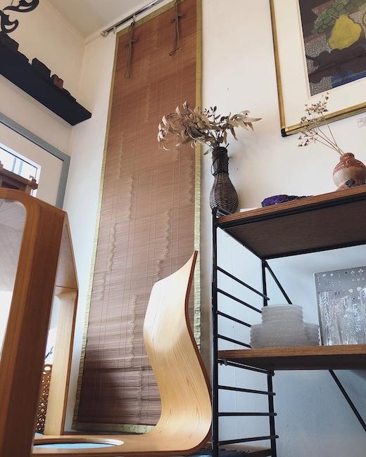 御廉、みす、ぎょれん、竹簾、すだれ、ブラインド、和モダン、竹工芸、時代家具