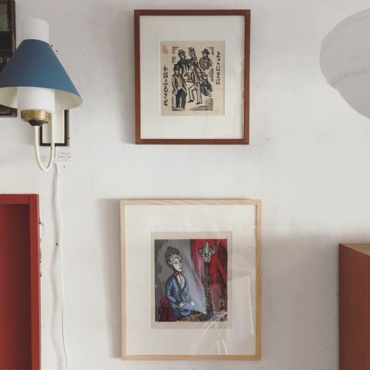 川上澄生、版画作品、よこはまわがふるさと、女と洋燈、文明開化