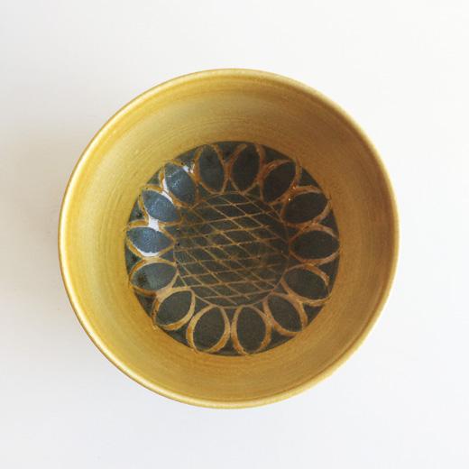 瀬戸焼、深鉢、向日葵、モダンデザイン、モダンクラフト、和食器、器、北欧風