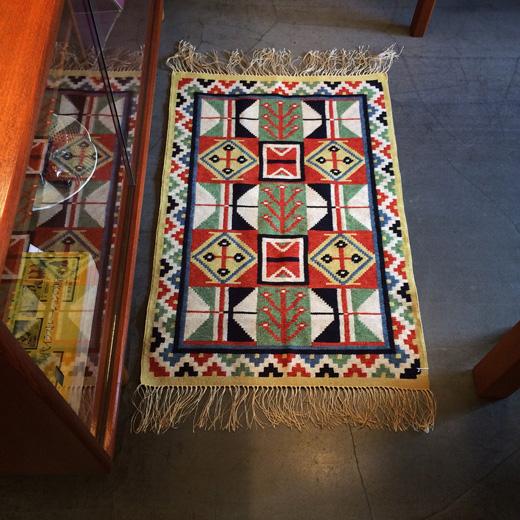 北欧ヴィンテージ、タペストリー、ルーロカン織、伝統手工芸品、毛織物