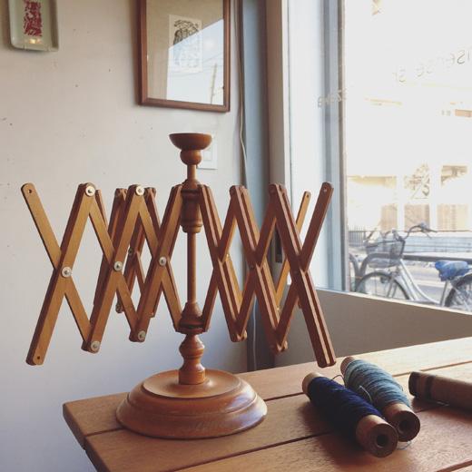 北欧ヴィンテージ、かせくり器、糸巻き、手芸道具、手仕事、暮らしの道具、木製、ヴィンテージ