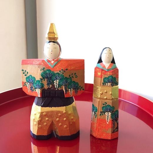 雛人形、立ち雛、奈良一刀彫、川口神泉