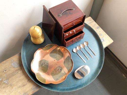和食器、茶道具、菓子器、銀製スプーン、工芸、玉川堂、菓子箪笥