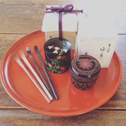 棗に茶杓、茶道具いろいろ