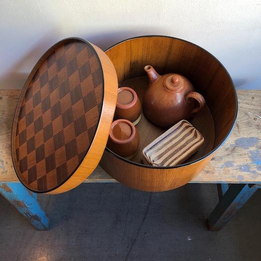 茶櫃、ちゃびつ、木箱、島安汎工芸製作所、モダンクラフト、ヴィンテージ