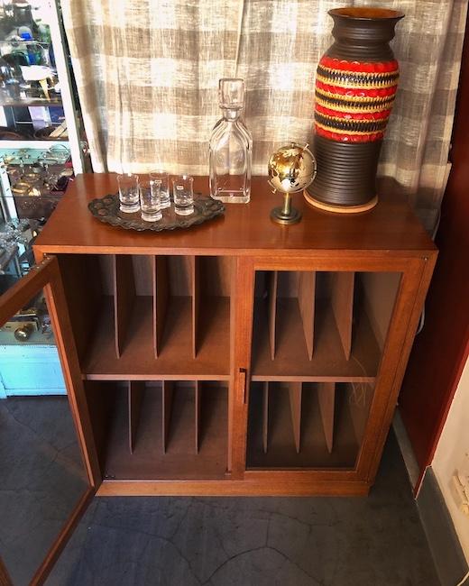 レコードキャビネット、チークキャビネット、本棚、書類棚、ヴィンテージ家具