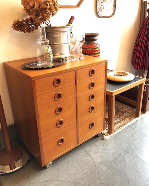 チーク家具、チェスト、引き出し収納、ヴィンテージ家具
