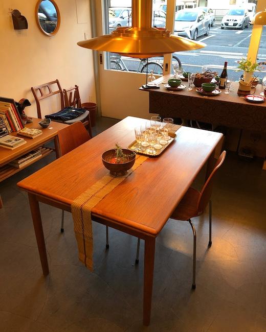 北欧ヴィンテージ家具、チーク家具、ドローリーフテーブル、ダイニングテーブル、北欧モダン