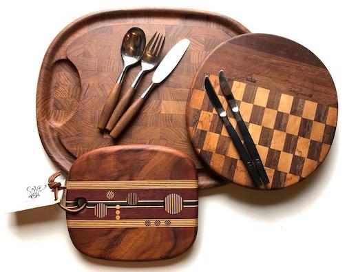 ダンスク、チークウッド、チーズボード、カッティングボード、イエンスクイストゴー、北欧モダン、木製食器