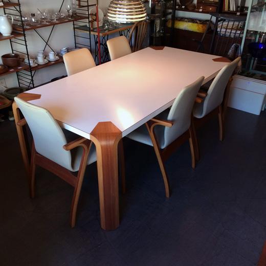 天童木工ヴィンテージ、ダイニングテーブル、坂倉準三