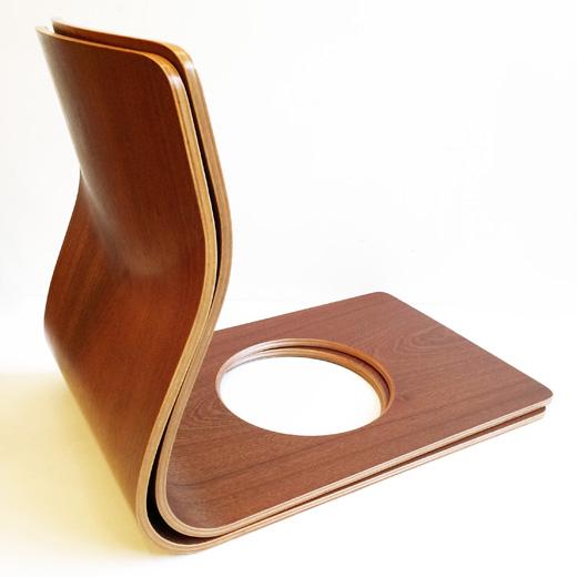 天童木工、座椅子、ケヤキ板目ブラウン、藤森健次、モダンデザイン、和モダン、ヴィンテージ