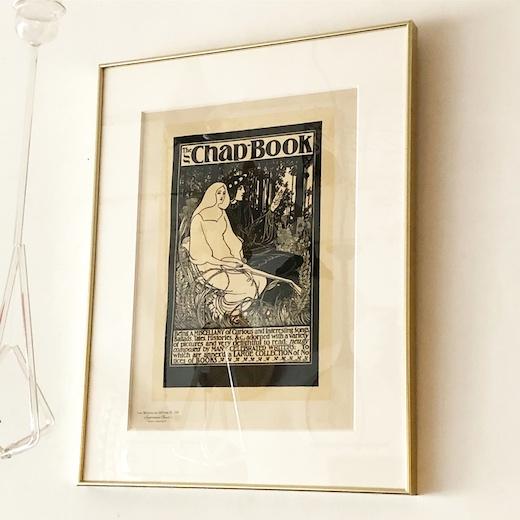 アール・ヌーヴォー、リトグラフポスター、1895、ウィルHブラッドリー、thechapbook、willHBradly、アメリカアールヌーヴォー