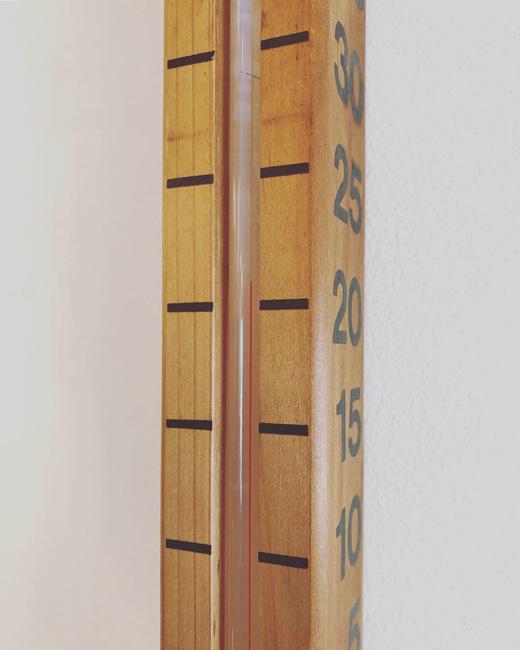 温度計、木製、モダンデザイン、1970s、ヴィンテージ