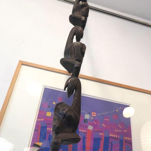 三猿、猿手、見ざる言わざる聞かざる、木彫り、木工、クラフト、ヴィンテージ