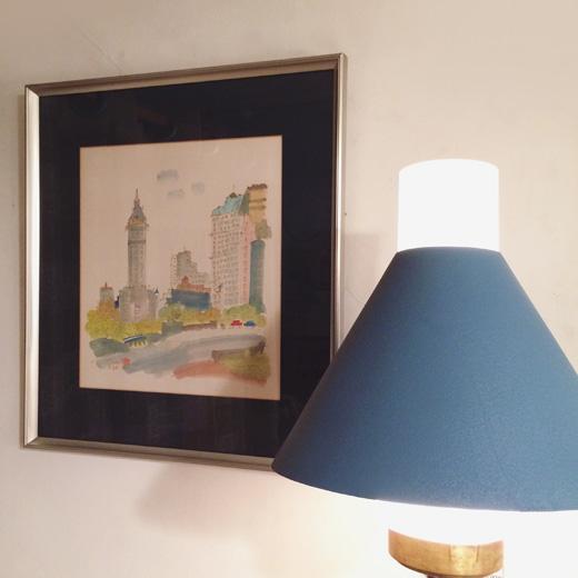 須賀卯夫、水彩画、ニューヨーク、newyork、額裝、アート