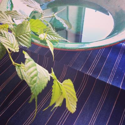 緑釉貫入鉢、水盤、モダン