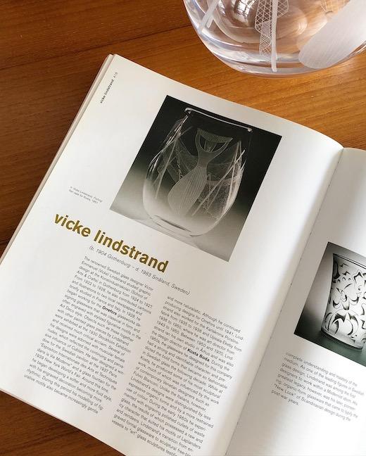 スウェーデンガラス、ヴィッケリンドストランド、北欧ガラスコレクション、エッチングガラスベース、コスタ社、vickelindstrand、fishingnet