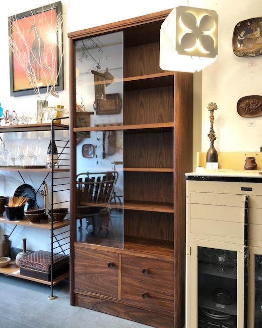 ヴィンテージ家具、ブックシェルフ、本棚、書庫、収納家具、モダン
