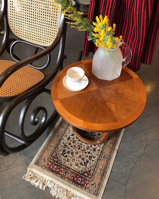 アメリカヴィンテージ家具、レーン、コーヒーテーブル、パーケットリー天板、寄木、エレガントモダン