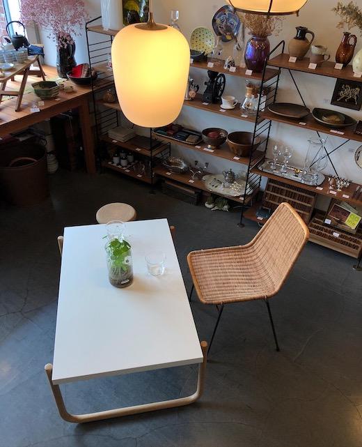 リメイク家具、ヴィンテージ家具、コーヒーテーブル、北欧モダン、アアルト、モダンデザイン、ローテーブル、曲木