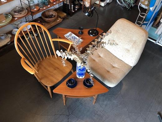 ヴィンテージ家具、チーク家具、コーヒーテーブル、コーナーテーブル、モダンインテリア