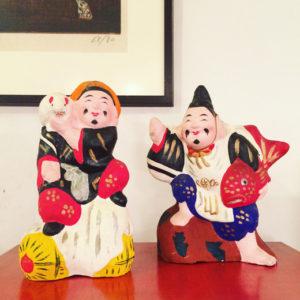 ヴィンテージ、クラフト、民藝、郷土玩具、秋田、八橋人形、恵比寿様、大黒様