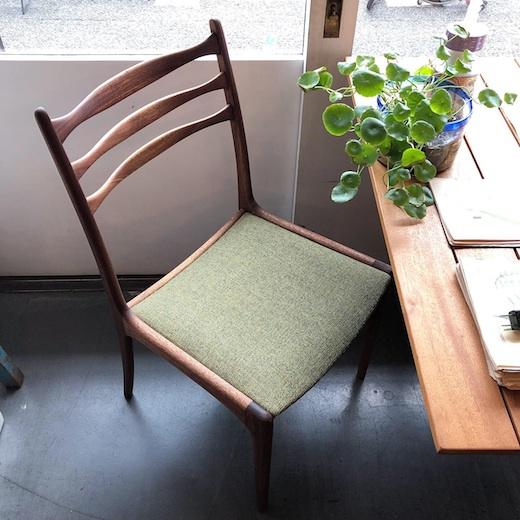 ヴィンテージ家具、ダイニングチェア、北欧モダン、日本製