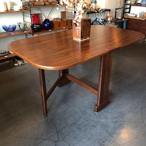 ヴィンテージテーブル、ドロップリーフテーブル、伊勢丹家具