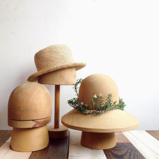 帽子木型、ハットスタンド、インテリアグリーン、木型、古道具、クラフト