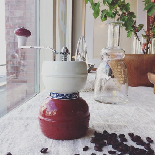 ヴィンテージ、コーヒーミル、コーノ、トリコロール、モダンデザイン、コーヒー道具