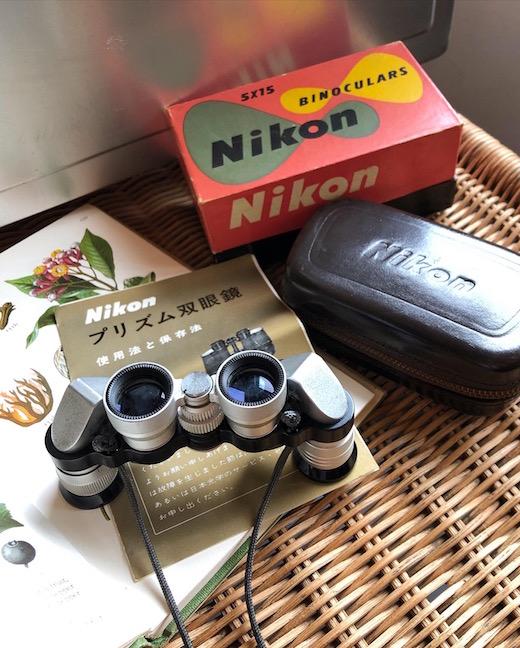 ヴィンテージ、ニコンプリズム双眼鏡、5×15、nikon、双眼鏡