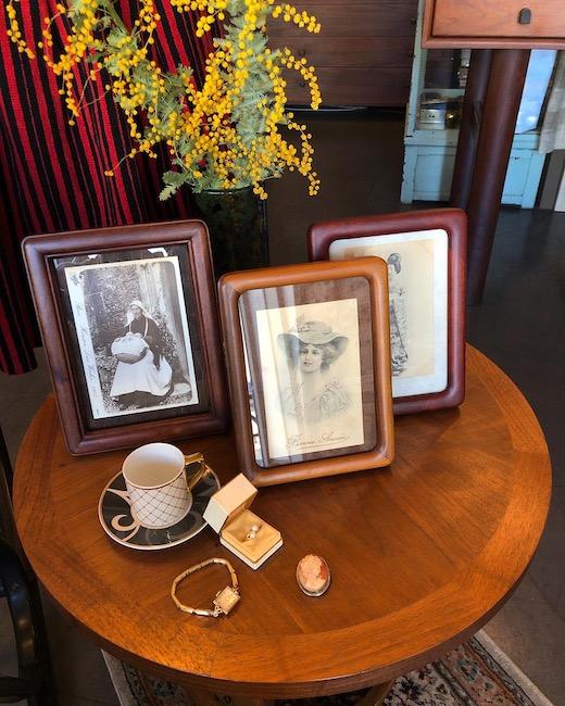 ヴィンテージ雑貨、木製フォトフレーム、銘木、堅木、パドック、無垢材、天然木、モダン